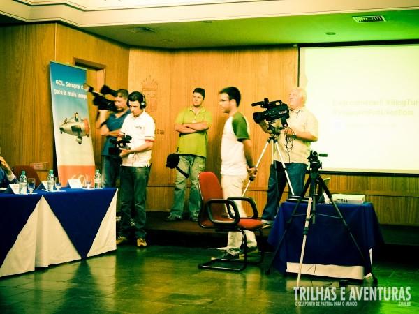 A mídia local foi cobrir de perto a abertura do BlogTurFoz