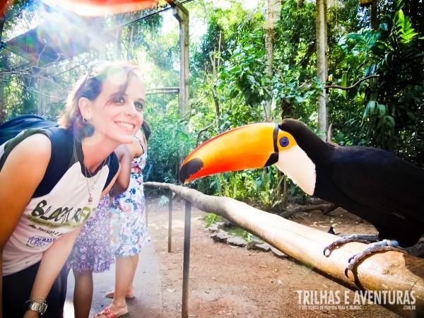 A Anna Martinelli se apaixonou pelo tucano no Parque das Aves