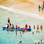 Banana Boat na 1ª Praia