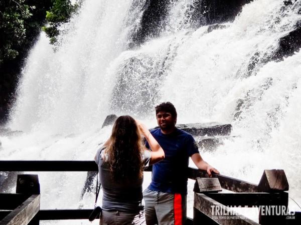 Neste mirante você fica praticamente dentro da Cachoeira Pancada Grande