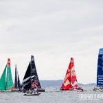 Barcos alinhados na Regata em Itajaí - Volvo Ocean Race