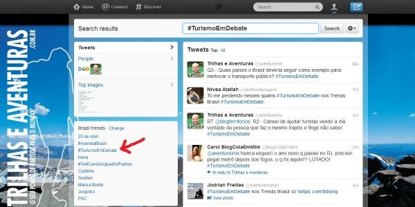 O Turismo em Debate entrou no 3º lugar nos Trending Topics Brasil