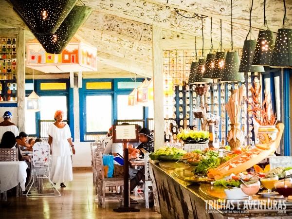 O restaurante do ClubMed Itaparica é simplesmente fantástico