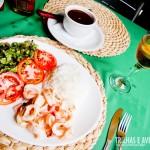 Meu prato: Lula Grelhada, com feijão, arroz e salada
