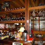 Bar com diversas opções de vinhos
