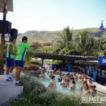As aulas de hidro-ginástica não deixam ninguem parado