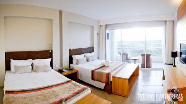 Panorâmica do quarto no Rio Quente Cristal Resort