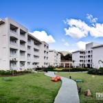 Panorâmica dos blocos de apartamentos do Cristal Resort