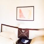 Panorâmica do quarto do apartamento