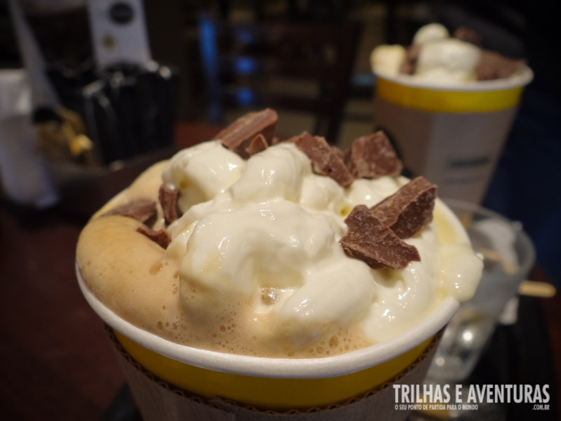 Chocolate Negro Latte no Café Havanna