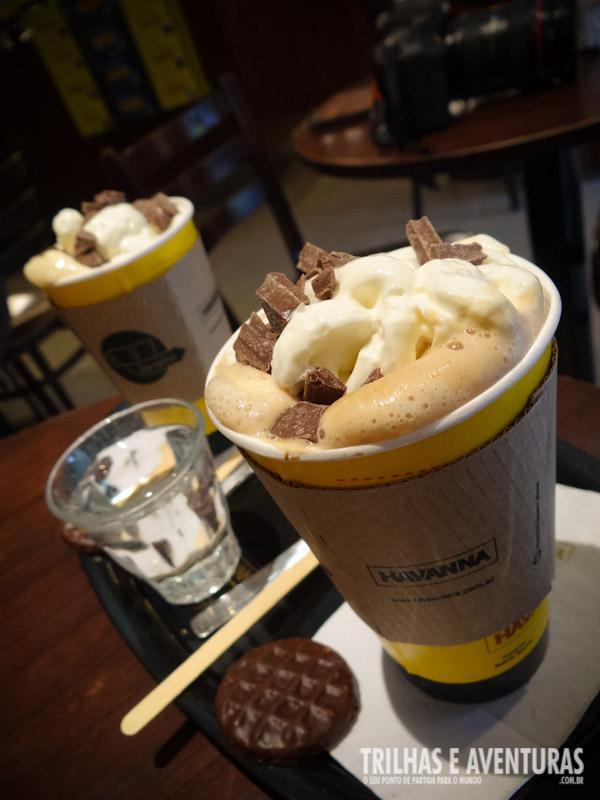 Chocolate Negro Latte no Café Havanna