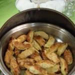 Croissants recheados de queijo e presunto