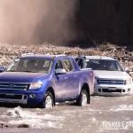 A Nova Ranger encarando um rio no campo de testes