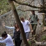 A galera logo no início da trilha do Morro Dois Irmãos