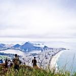 Galera curtindo o visual do Rio de Janeiro