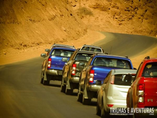 Comboio da Nova Ranger durante a Roadtrip de Salta a Cafayate