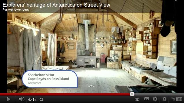 Cabana de Shackleton na Antártica