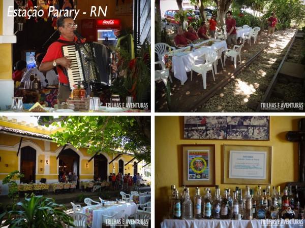Estação Parary - O bar e restaurante fica em uma antiga estação de trem, bem ao lado dos trilhos