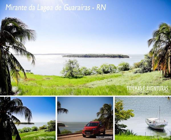 Em Tibau do Sul, possui uma das melhores vistas para o pôr-do-sol - Mirante da Lagoa de Guarairas - RN