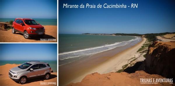Falésias e dunas brigam pela atenção da paisagem - Mirante da Praia de Cacimbinha - RN