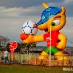 O Mascote da Copa já está em Brasília