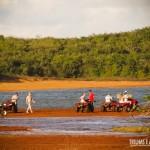 Galera reunida na Lagoa Amarela