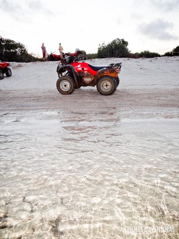 Água cristalina nas lagoas do passeio