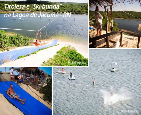 Adrenalina na Tirolesa e no Ski-Bunda na Lagoa de Jacumã - RN