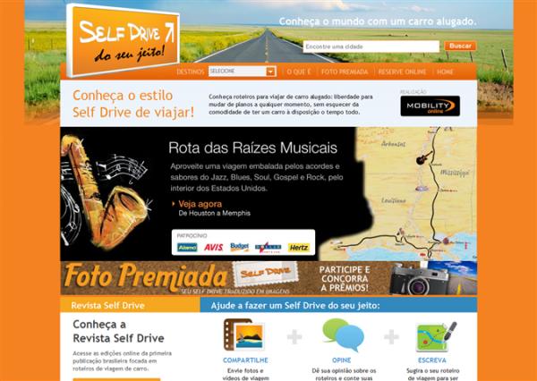 Mobility Self Drive - Roteiros para viajar de carro alugado em mais de 25 países