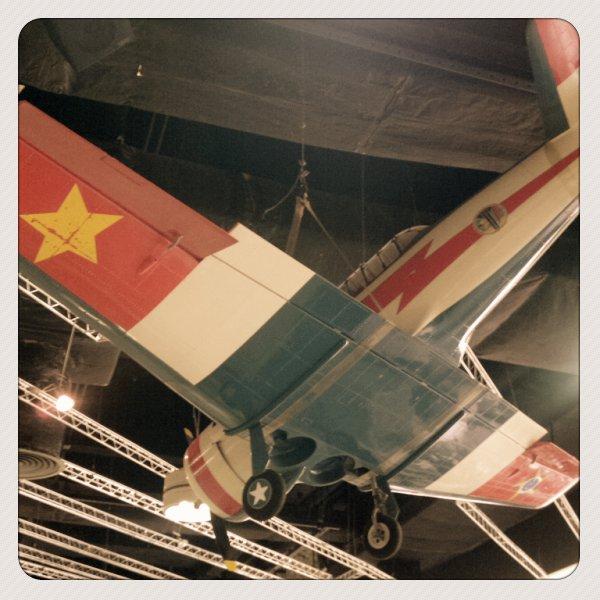 Aeromodelos decorando o Air Café Palheta