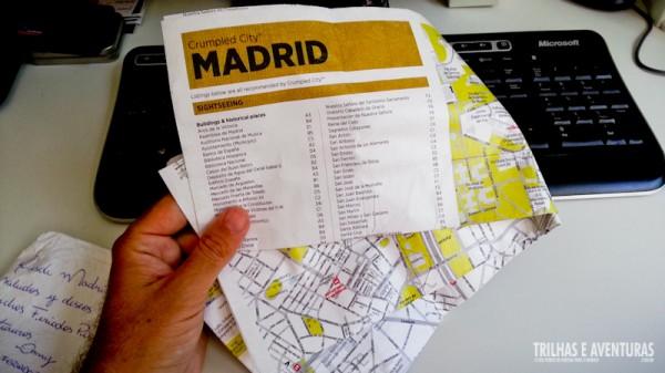 O Mapa de Madrid dobrado fica super pequeno e não amassa. Perfeito para viagens!