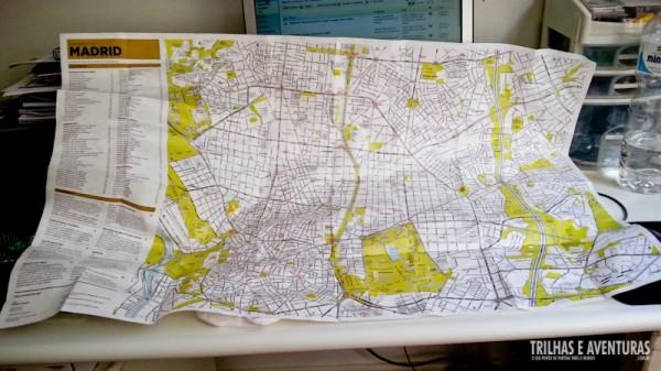Olha só o tamanho que fica o Mapa de Madrid. Tem tudo nele!