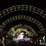 Arcos iluminados para o Natal de Gramado