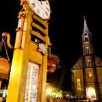 Termômetros espalhados por todo o centro de Gramado