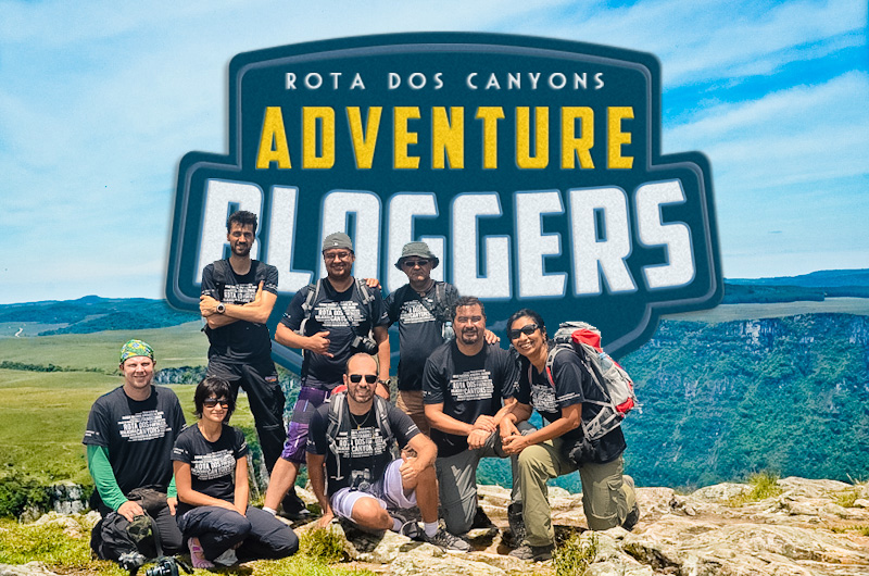 Equipe completa dos Adventure Bloggers, os caçadores de aventuras