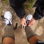 É aconselhável o uso de caneleiras para proteger de pedras e animais peçonhentos