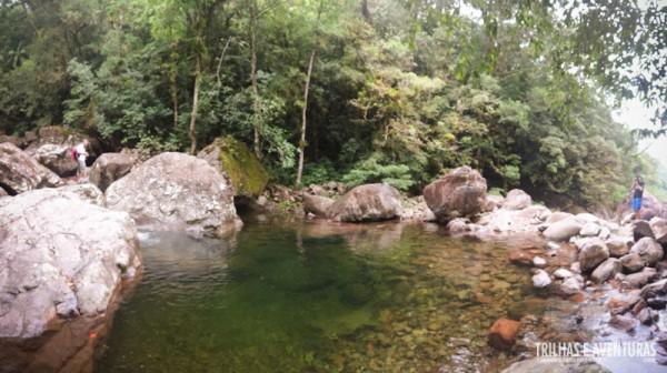 Piscina natural onde tomamos banho no Cânion Malacara