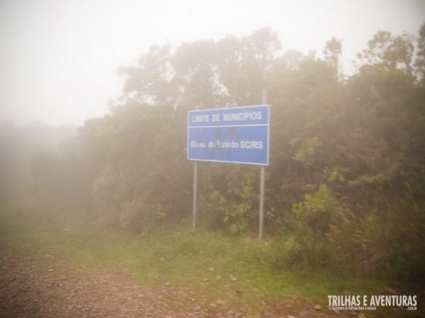 Na Estrada do Faxinal encontra-se os limites dos estados de Santa Catarina e Rio Grande do Sul