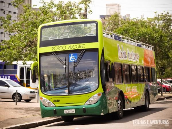 Ônibus do City Tour em Porto Alegre - da Linha Turismo