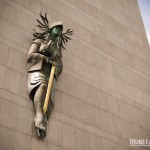 Estátua do Palácio da Justiça, no centro de Porto Alegre