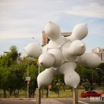 Cuias gaúchas formam arte na rua de Porto Alegre