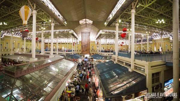 Panorâmica do Mercado Público vista do segundo piso