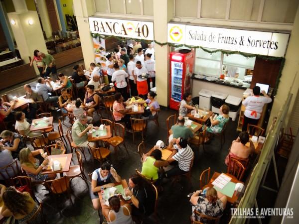 A Banca 40 é uma das mais famosas no Mercado Público de Porto Alegre