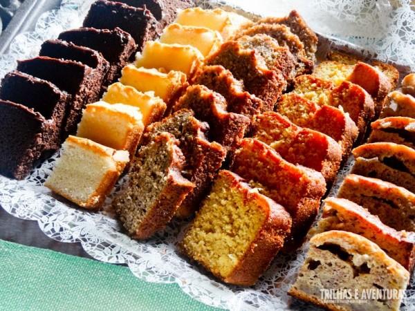 Variedade de bolos orgânicos