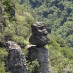 A famosa Pedra do Segredo, no Cânion Fortaleza