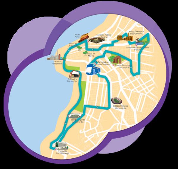 Roteiro Centro Histórico - City Tour em Porto Alegre com a Linha Turismo
