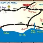 Mapa de Como Chegar no Bar da Lagoa de Pitangui