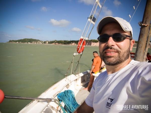 A cara de felicidade neste passeio de barco. Muitas saudades de Pipa e Tibau do Sul