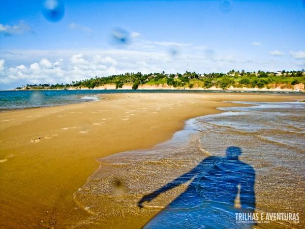 A única sombra no banco de areia era a minha... mas eu amei este lugar!