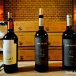 Alguns dos vinhos que provamos no tour